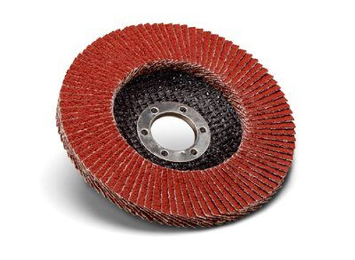 """4-1/2"""" x 7/8"""" Ceramic Pro T27 Flap Disc, Y-weight (Multiple Grits)"""