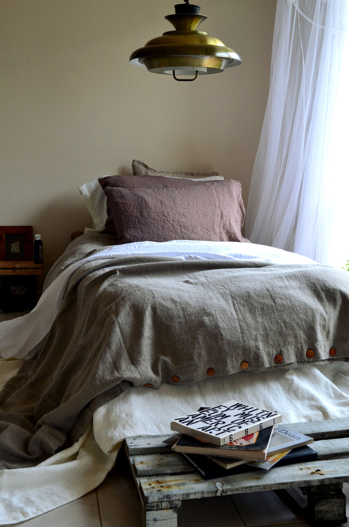 Natural Rustic Heavy Weight Linen Duvet/ Quilt Cover