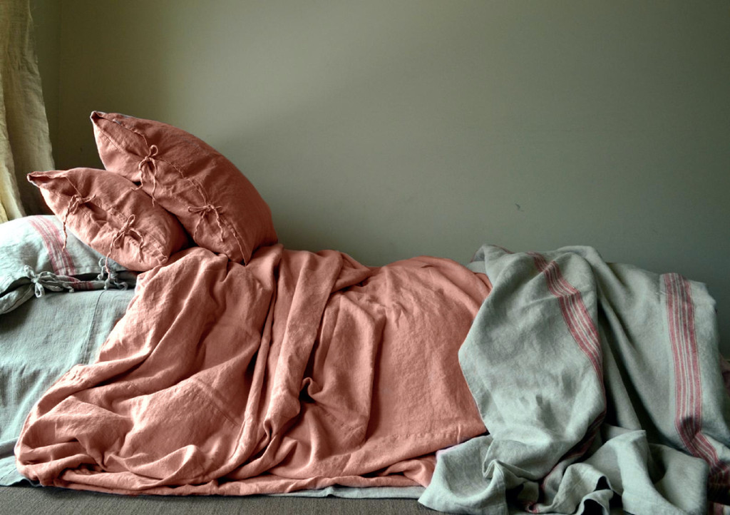 Ginger Spice Rustic Heavy Weight Linen Duvet/ Quilt Cover