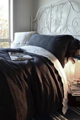 Peppercorn Dark Grey Rustic Heavy Weight Linen Duvet/ Quilt Cover