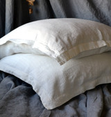 Ivory Natural Rustic Linen Pillowcase
