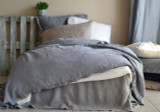 Dove Grey Heavy Weight Rustic Linen Duvet/ Quilt Cover