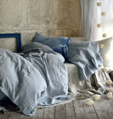 Light Grey stonewashed linen duvet/quilt cover