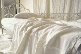 Ivory Heavy Weight Rustic Linen Bed cover/Coverlet