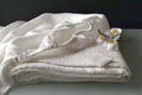 Antique White stonewashed linen fitted sheet. All sizes