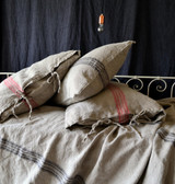 Grainsack Black Stripe Heavy Linen Pillowcase. All sizes