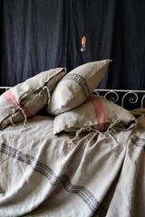 Grainsack Black Stripe Heavy Linen Pillowcase. All sizes