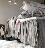 Heavy weight Linen Ruffled Valance⎮Bedskirt⎮Dust Ruffle