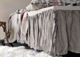 Heavy weight Linen Ruffled Valance⎮Bedskirt⎮Dust Ruffle