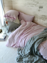 Dusty Pink stonewashed linen duvet/quilt cover