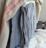 Heavy weight Fossil Grey Linen Ruffled Valance⎮Bedskirt⎮Dust Ruffle