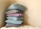 Fossil Grey Waffle Linen Pillow Case. Super heavy weight linen