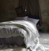 Antique white stonewashed linen duvet/quilt cover