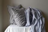 Silver Grey Stonewashed Linen Bath/Spa Robe.