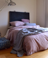 Faded Lilac Rustic Heavy Weight Linen Duvet/ Quilt Cover