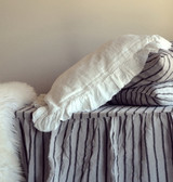 Ruffled Antique white pillow case