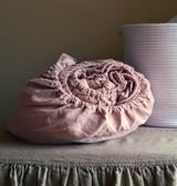 Rose Quartz Heavy weight Rustic linen fitted sheet