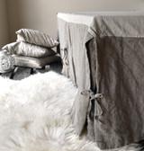 Natural Heavy weight Linen Box Pleated Valance⎮Bedskirt⎮Dust Ruffle