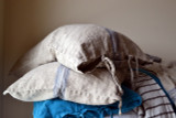 Grainsack Blue Stripe Heavy linen Pillowcase. All sizes