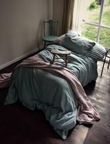 Duck Egg Blue Rustic Heavy Weight Linen Duvet/ Quilt Cover