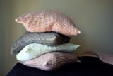 Rose Quartz (Blush) Waffle Linen Pillowcase. Super heavy weight linen