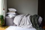 Rustic Ticking Stripe Heavy Weight Linen Duvet/ Quilt Cover