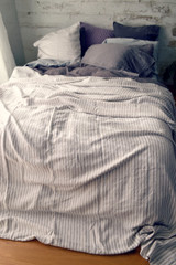 Rustic Ticking Stripe Heavy Weight Rustic Linen Bed cover/Coverlet