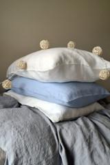 Sky Blue stonewashed linen pillow case