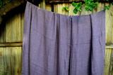 Natural linen bathroom towel, Blueberry Milk/Waffle texture