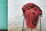 Marsala stonewashed linen fitted sheet
