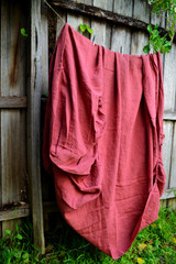 Marsala stonewashed linen Top⎮Flat sheet