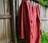 Marsala stonewashed linen Top⎮Flat sheet