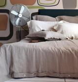Natural stonewashed linen duvet/quilt cover
