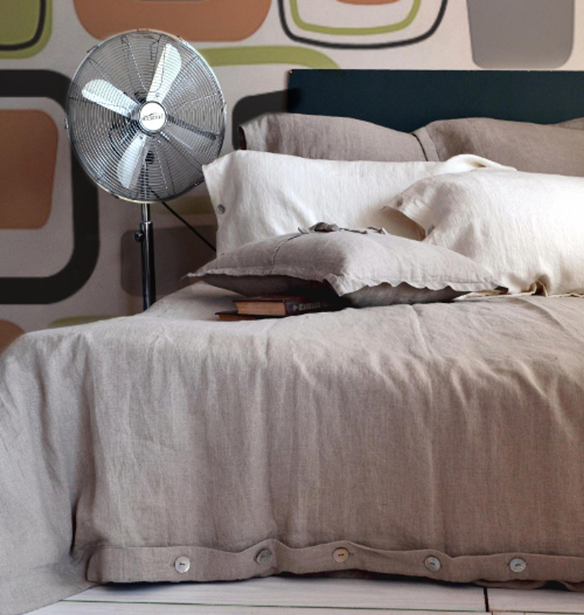 Pure Elegance Softened Natural Linen Duvet Cover