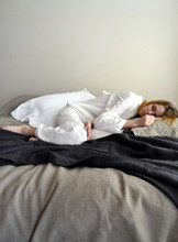 Luxurious natural stonewashed linen sleepwear. Pajama Set