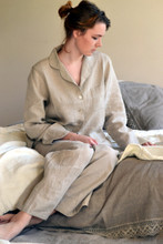 Natural stonewashed linen sleepwear. Pajama Set