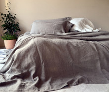 Rustic Heavy weight Linen Bed cover/Coverlet