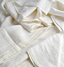 Antique White stonewashed linen Top⎮Flat sheet
