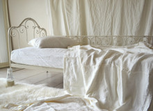 Ivory Heavy Weigh Rustic Coverlet/Bed cover