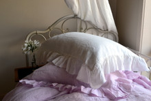 Ruffled Antique white pillow case