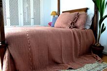 Ginger Spice Waffle Linen Pillow Case. Super heavy weight linen