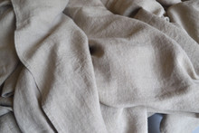 Natural (undyed) stonewashed linen Top⎮Flat sheet