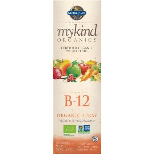 Garden of Life mykind Organics B12 Raspberry Spray