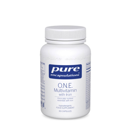 Pure Encapsulations One Multivitamin with Iron (60 caps)