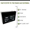 Casil CA1210 12v 10ah Battery 5.94x2.56x4.33