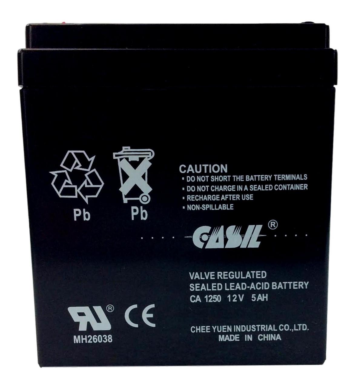 Casil CA1250 12v 5ah SLA Sealed Lead Acid Battery F1 Terminal