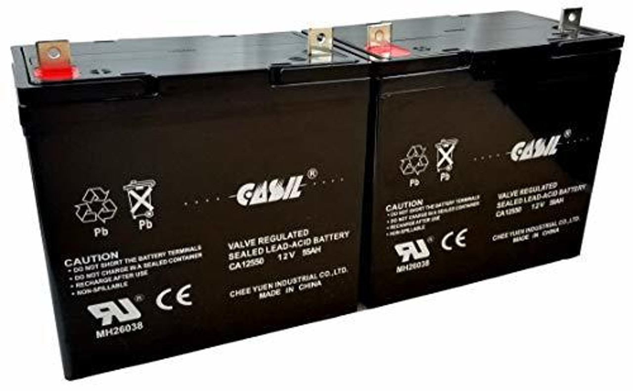 Casil CA12550 12v 55ah Wheel Chair Battery Two Pack