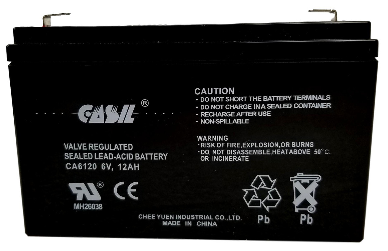 Casil CA6120 6v 12ah Rechargeable Battery