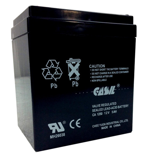 Casil CA1250 12v 5ah Battery Back Up Alarm Battery