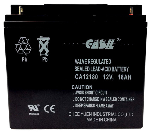 Casil CA12180 12v 18ah AGM Sealed Lead Acid Battery Nut & Bolt
